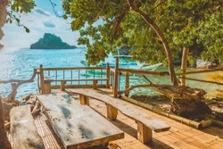 Cauayan, Negros Occidental / Philippines - May 8 2018: Sunny Day in Danjugan Island Philippines