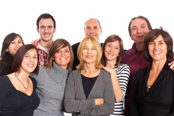 Caucasian Family, Group of People