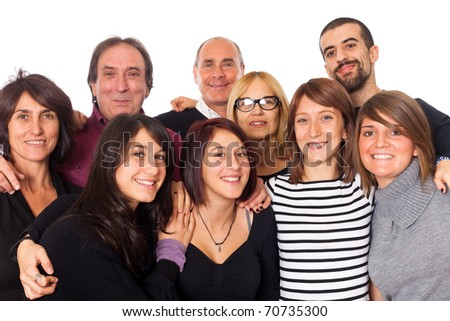 Caucasian Family, Group of People - stock photo