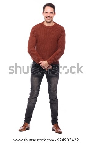 Caucasian man full body