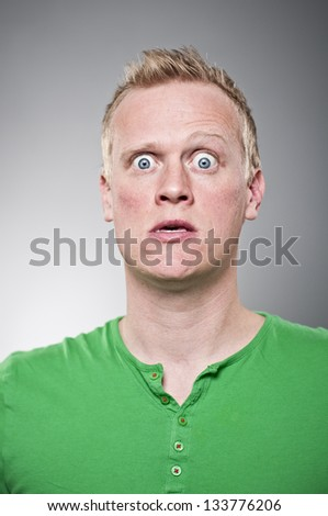Caucasian Man Making A Weird Face