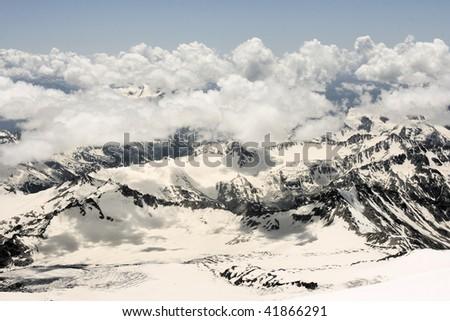 Caucasian mountains - stock photo