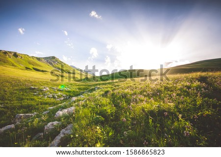 Caucasus Mountains, shot in the mountains in Adygea