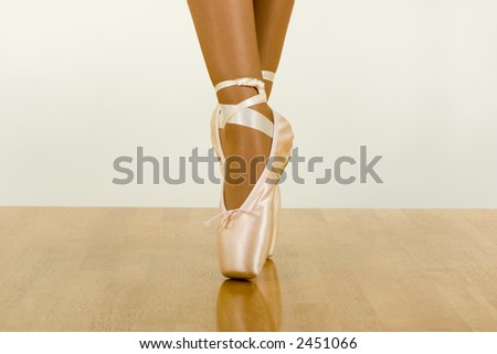 Caught movements of ballet workout with using pointers