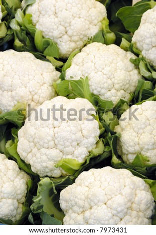Cauliflower at the greengrocer