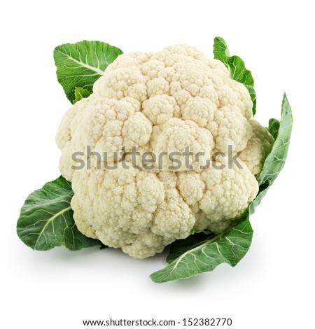 Cauliflower isolated on white background Foto stock ©