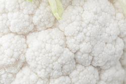Cauliflower macro. Cauliflower close up texture.