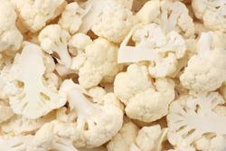 Cauliflower texture. Cauliflower background. Cauliflower close-up texture