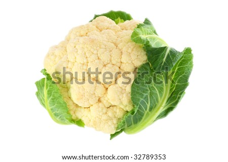 Cauliflower. White background. The isolated object.