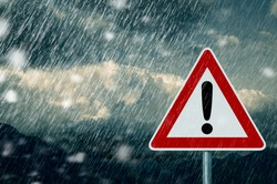 Caution - bad weather