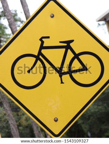 CAUTION BIKE CROSSING SIGN BICYCLE SIGN  #1543109327