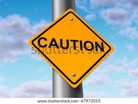 Caution danger road street sign symbol