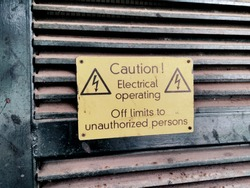 caution, electrical sign