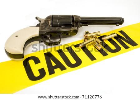 Caution- Handgun & Bullets