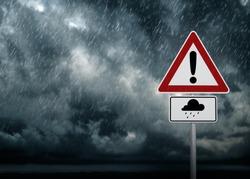 Caution - Heavy Rain Symbol