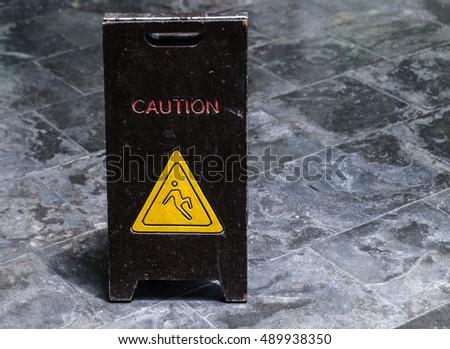 caution Wet Floor sign #489938350