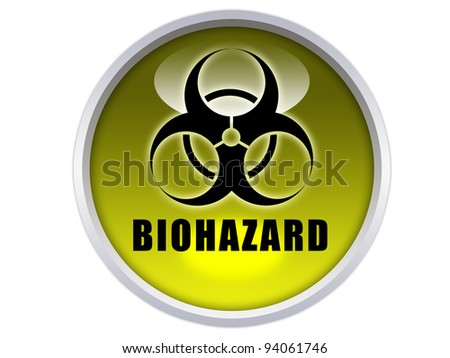 caution word with icon on yellow glossy button graphic