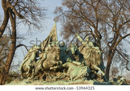 Cavalry group of Grant Memorial, USA