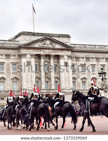 Cavalry parade, Buckingham place, UK #1373339069