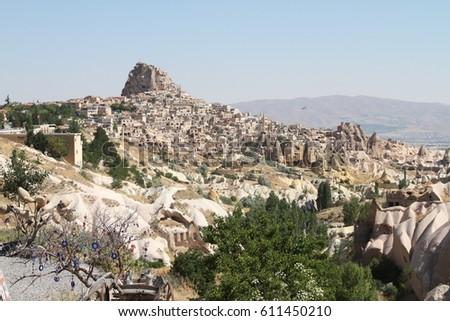 cave Cappadocia in Central Anatolia, Turkey #611450210