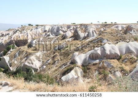cave Cappadocia in Central Anatolia, Turkey #611450258