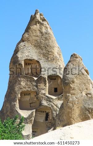 cave Cappadocia in Central Anatolia, Turkey #611450273
