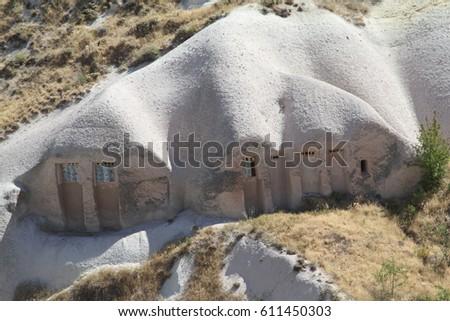 cave Cappadocia in Central Anatolia, Turkey #611450303