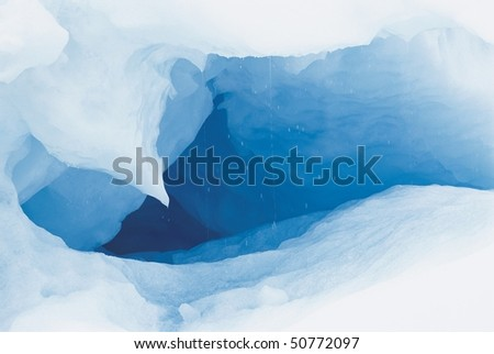 Cave in ice