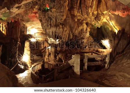 Cave is a beautiful, laos.
