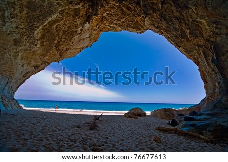 cave paradise blue sea and sky relaxation paradise on beach tourism tropical island spectacular landscape scenic view