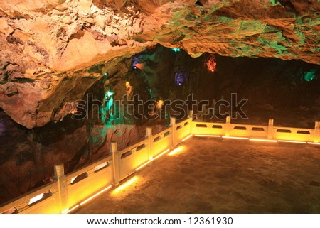 Cave with light ornament