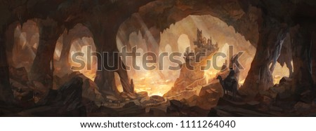 Caves of gold - a community of travelers discover an ancient cave - what are it's secrets? Stock photo ©