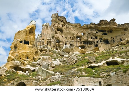 Cavusin monastery in Cappadocia, Turkey.