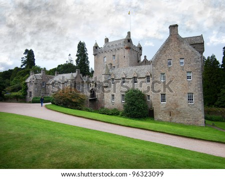 Cawdor Castle and beautiful gardens near Inverness, Scotland