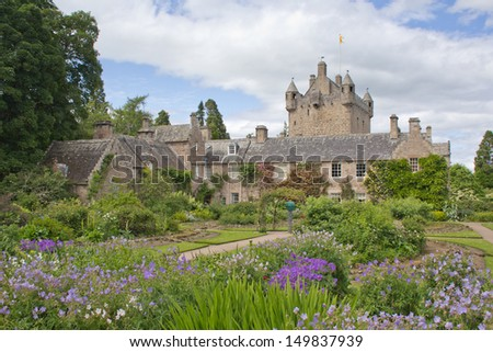 Cawdor Castle and gardens near Inverness, Scotland.