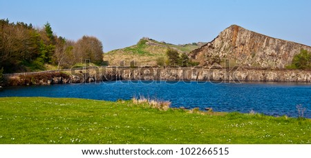 cawfields at the roman Hadrians Wall in England