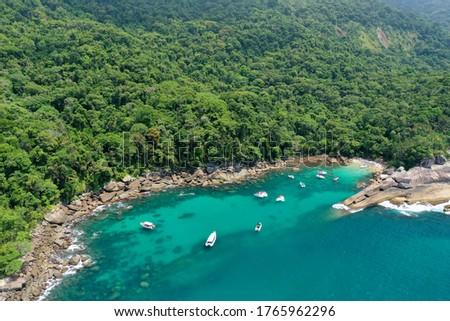 Caxadaço Beach, located on Ilha Grande in Rio de Janeiro. Foto stock ©