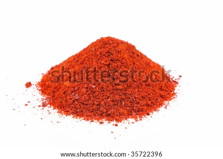 cayenne pepper flakes - stock photo
