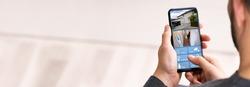 CCTV Home Security Camera Surveillance On Mobile Phone