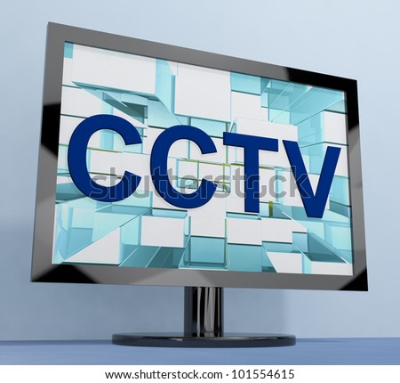 CCTV Monitor For Security Surveillance To Prevent Crimes