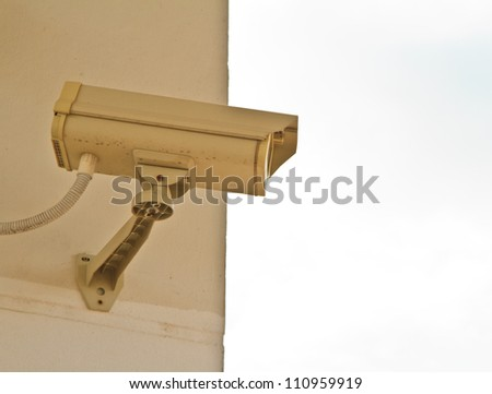 CCTV security camera at home