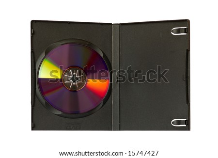 CD and case with insert isolated on white.