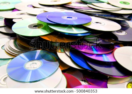 cd and dvd as nice technology background Сток-фото ©