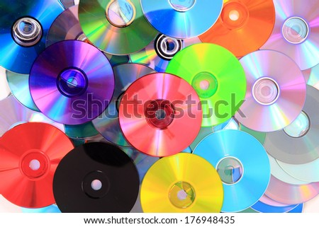 CD and dvd color background