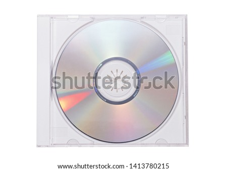 CD Box with disc on white background Stock photo ©