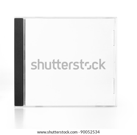 CD Case In Front View isolated on white background