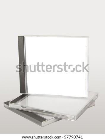 cd case stack - stock photo
