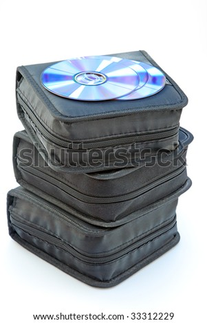 CD case stack isolated over white