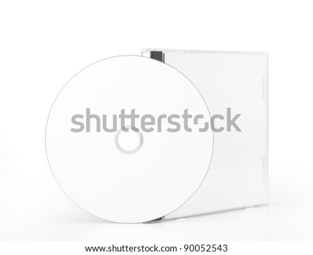 CD Case With Blank CD isolated on white background