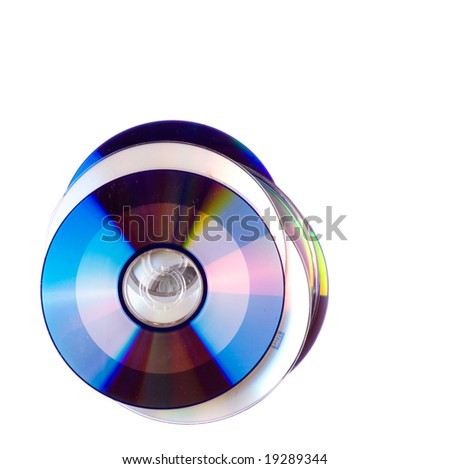 CD close-up isolated on white background